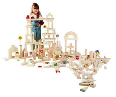 Classroom Unit Blocks 390 Piece Set