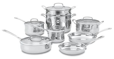 Contour™ Stainless 13-Piece Cookware Set