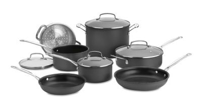 Chef's Classic™ Non-Stick Hard-Anodized 11-Piece Cookware Set