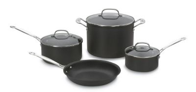 Chef's Classic™ Non-Stick Hard-Anodized 7-Piece Cookware Set