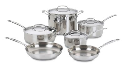 Chef's Classic™ Stainless 10-Piece Cookware Set