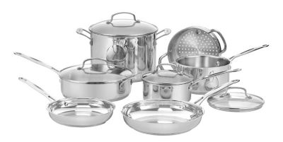 Chef's Classic™ Stainless 11-Piece Cookware Set