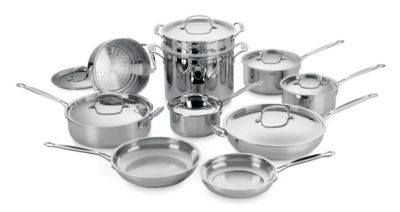 Chef's Classic™ Stainless 17-Piece Cookware Set