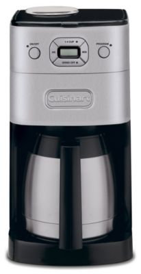 Grind & Brew 10-Cup Thermal Automatic Coffee Maker - Brushed Chrome