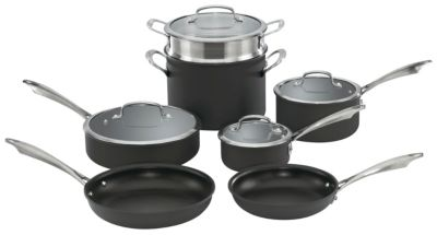 Anodized Dishwasher Safe 11 Piece Cookware Set
