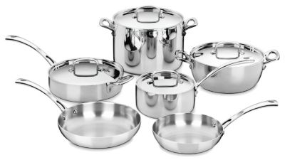 French Classic Tri-Ply Stainless 10 Piece Set