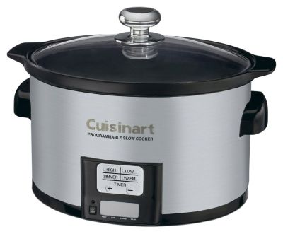 3.5-Quart Programmable Slow Cooker - Brushed Stainless Steel