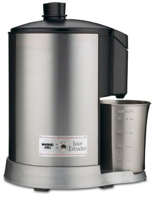 Professional Juice Extractor - Brushed Stainless Steel & Black