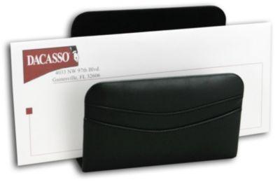 Top-Grain Leather Classic Letter Holder - Black