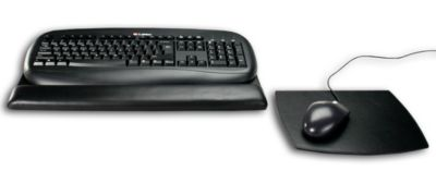 Top-Grain Leather Classic Mouse & Keyboard Pad Kit - Black