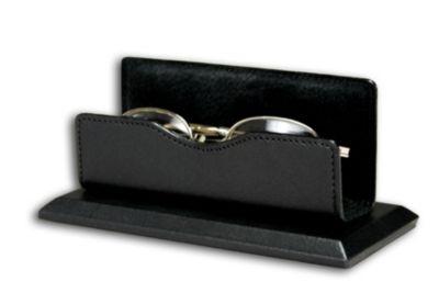 Top-Grain Leather Classic Eyeglass Holder - Black
