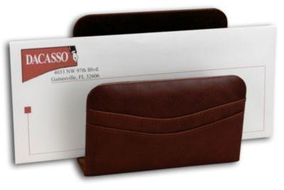 Top-Grain Leather Classic Letter Holder - Mocha
