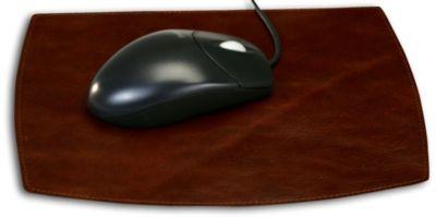 Top-Grain Leather Classic Mouse Pad - Mocha