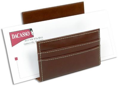 Rustic Top-Grain Leather Letter Holder - Brown