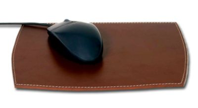 Rustic Top-Grain Leather Mouse Pad - Brown
