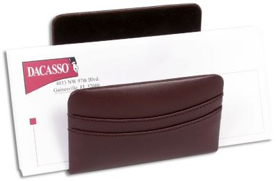 Top-Grain Leather Classic Letter Holder - Chocolate Brown