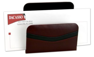 Top-Grain Leather Classic Letter Holder - Burgundy