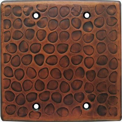Customizable Copper Double Gang Blank Cover Plate