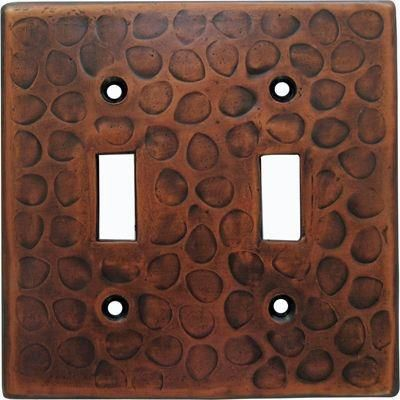 Customizable Copper Double Gang Switch Cover Plate