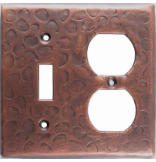 Customizable Copper Double Gang Switch/Outlet Cover Plate