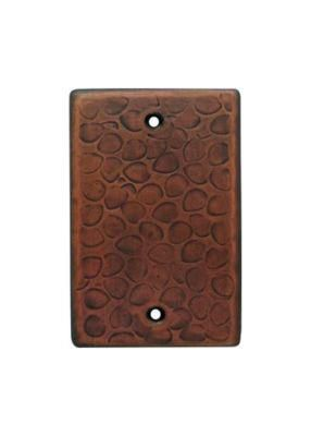 Customizable Copper Single Gang Blank Cover Plate