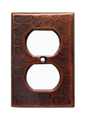 Customizable Copper Single Gang Wall Outlet Cover Plate