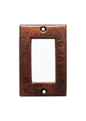 Customizable Copper Single Gang Rocker Switch Cover Plate