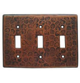 Customizable Copper Triple Switch Cover Plate