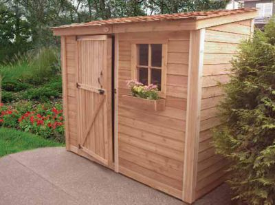 8' x 4' SpaceSaver Lean To Style Garden Shed