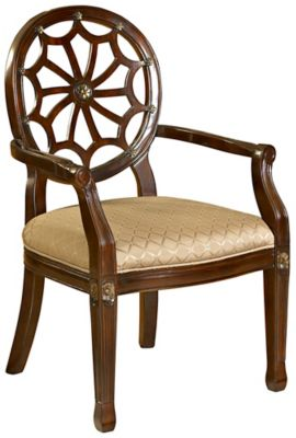 Spider Web Back Accent Chair