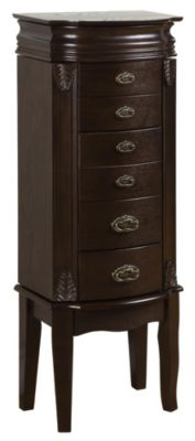 Italian Influenced Transitional Jewelry Armoire