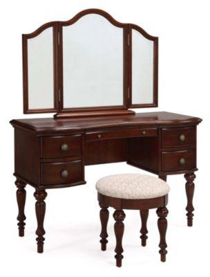 Marquis Vanity Mirror & Bench