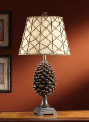 Pine Buff Table Lamp