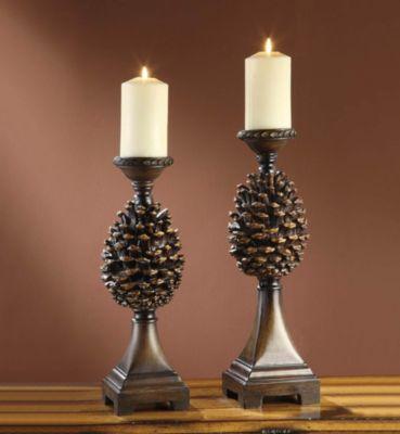 Pine Bluff Candleholder - Set of 2