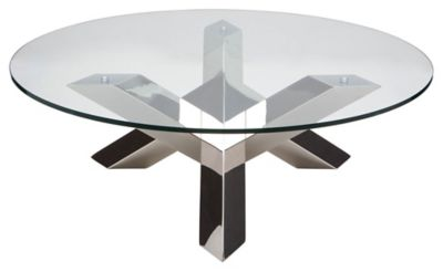 Costa Round Glass Top Coffee Table