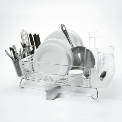 Good Grips Folding Stainless Steel Dish Rack