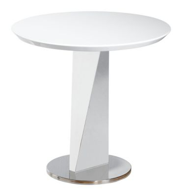 Lola White End Table