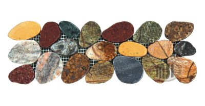 Motif Pebbles Border Tile - Tumbled