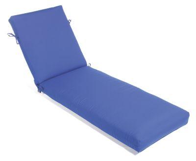Aluminum Wood Non-Tufted Large Chaise Cushion
