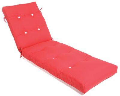 Aluminum Wood Button-Tufted Chaise Cushion