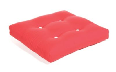 Aluminum Wood Button-Tufted Ottoman Cushion