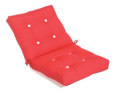 Aluminum Wood Button-Tufted Large Club Cushion