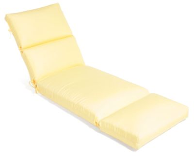 Aluminum Wood Cartridge Chaise Cushion