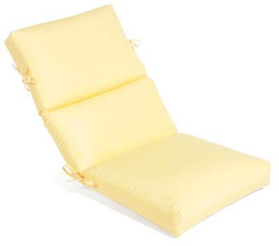 Aluminum Wood Cartridge High Back Dining Cushion