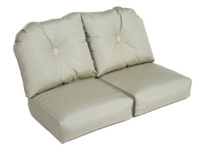 Erwin & Sons Deluxe Wicker Loveseat Cushion