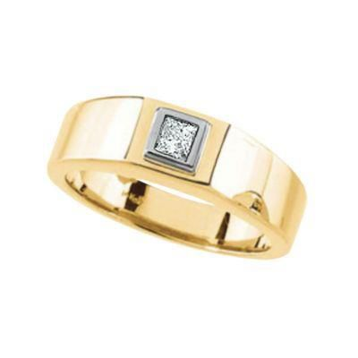14k Gold Princess Cut Diamond Ring - .25 ct tw