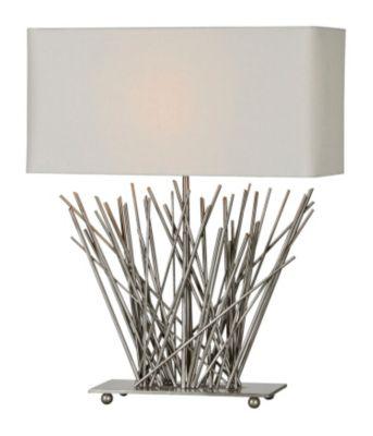 Hera Stick Table Lamp - Satin Nickel Plated