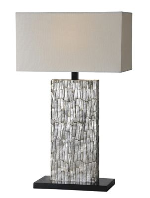 Santa Fe Table Lamp - Aged Silver Leaf