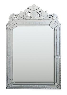 Mansard Beveled Venetian Mirror