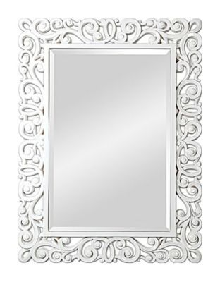 Anotella Beveled Mirror - White High-Gloss Lacquer
